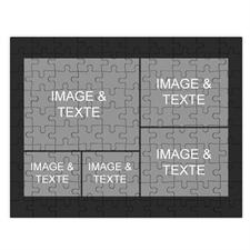 Puzzle photo personnalisé noir 5 collage 30,48 x 41,91 cm