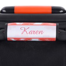 Enveloppe de poignée de valise personnalisée aquarelle floral