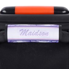 Enveloppe de poignée de valise personnalisée pensée violette