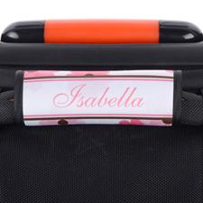 Enveloppe de poignée de valise personnalisée rose floral