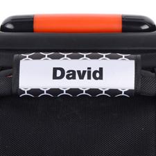 Enveloppe de poignée de valise personnalisée cercle noir cadre gris