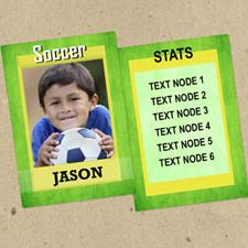 Ensemble de 12 cartes de collection photo vertes personnalisées foot
