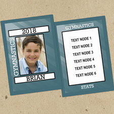 Ensemble de 12 cartes de collection photo personnalisées gymnastique