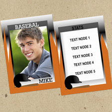 Ensemble de 12 cartes de collection photo personnalisées sport baseball