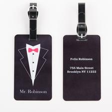 Étiquette de bagage mariage personnalisée M.
