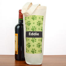 Sac à vin coton personnalisé empreinte de patte