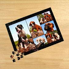 Puzzle photo personnalisé noir 6 collage 30,48 x 41,91 cm