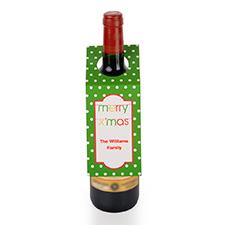 Étiquette de vin personnalisée banderole Joyeux Noël, ensemble de 6