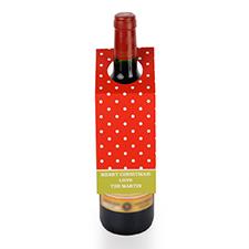 Étiquette de vin personnalisée pois rouges, ensemble de 6