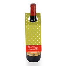 Étiquette de vin personnalisée pois lime, ensemble de 6