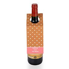 Étiquette de vin personnalisée pois bruns, ensemble de 6