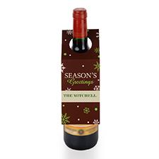 Étiquette de vin personnalisée meilleurs voeux, ensemble de 6
