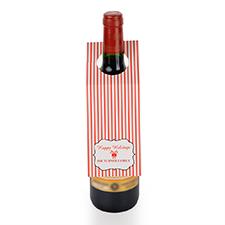 Étiquette de vin personnalisée rayure de fête, ensemble de 6
