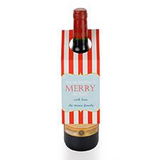 Étiquette de vin personnalisée joyeux et lumineux, ensemble de 6