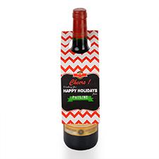 Étiquette de vin personnalisée santé tableau noir, ensemble de 6