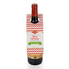 Étiquette de vin personnalisée voeux de Noël, ensemble de 6