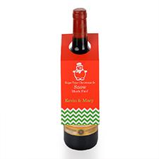 Étiquette de vin personnalisée bonhomme de neige, ensemble de 6