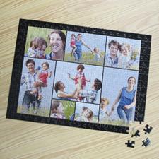 Puzzle photo personnalisé noir 8 collage 30,48 x 41,91 cm