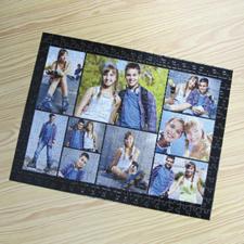 Puzzle photo personnalisé noir 9 collage 30,48 x 41,91 cm