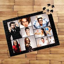 Puzzle photo personnalisé noir dix collage 30,48 x 41,91 cm
