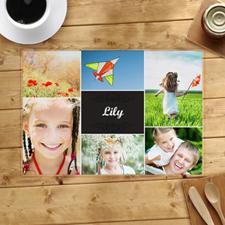 Set de table personnalisé six collages photo