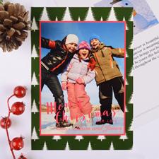 Carte photo de Noël personnalisée arbre givré