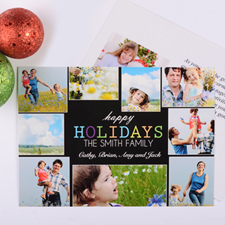 Carte photo personnalisée vacances gaies