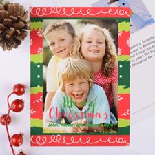 Carte photo personnalisée Noël coloré