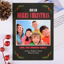 Carte de Noël photo personnalisée joyeuse baie