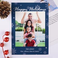 Carte de Noël photo  personnalisée bénédiction de fêtes