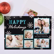 Carte de Noël photo personnalisée merveilleuse chute de neige
