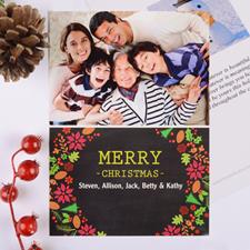 Carte de Noël photo  personnalisée joyeux cadre