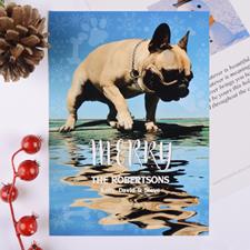 Carte de Noël photo personnalisée empreinte de patte
