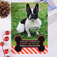 Carte photo de Noël personnalisée fourrure & lumière