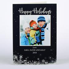 Carte de Noël photo personnalisée figé dans le temps, pliée 12,7 x 17,78 cm