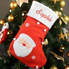 Bas de Noël Père Noël nom brodé