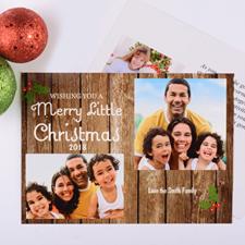 Carte photo personnalisée joyeux petit Noël