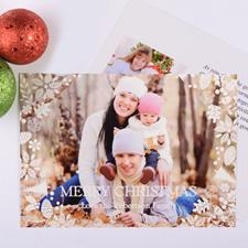 Carte photo personnalisée Noël blanc