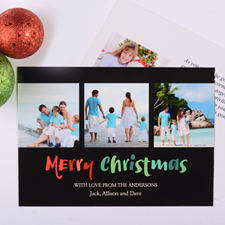 Carte photo personnalisée Noël peint
