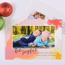 Carte de Noël photo personnalisée Soyez joyeux