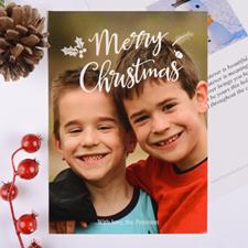 Carte photo de Noël personnalisée joyeux script