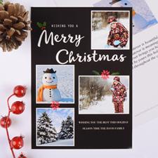Carte de Noël collage photo personnalisée