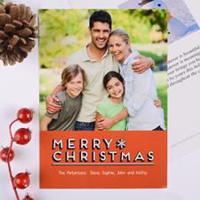 Carte photo de Noël personnalisée joyeux flocon de neige