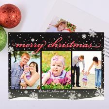 Carte photo de Noël personnalisée saison givrée