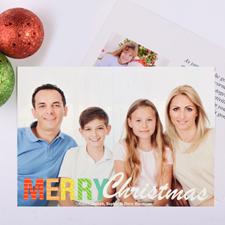 Carte de Noël photo personnalisée motif vif