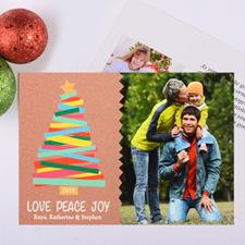 Carte photo de Noël personnalisée joyeux arbres