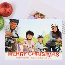 Carte photo personnalisée Noël contemporain