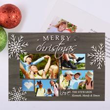 Carte de Noël photo personnalisée flocon de neige le plus heureux