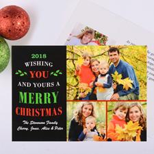 Carte photo personnalisée voeux de Noël