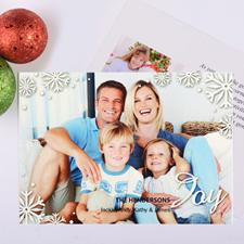 Carte de Noël photo personnalisée écriture joie